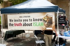 Islam Educational Booth. In Australia Stock Image