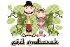 Islam eid mubarak Stock Photo