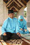 Islam, Father and Child  Praying Royalty Free Stock Photos