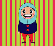 Islam Girl. Vector Islam Girl Cartoon Drawing Stock Photo
