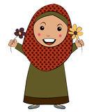 Islam Girl with Flower Royalty Free Stock Photography