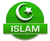 Islam Green Circle Royalty Free Stock Image