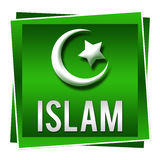 Islam Green Square Royalty Free Stock Photography