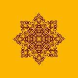 Islam henna ornament. Geometric star element in vector.  Royalty Free Stock Photos