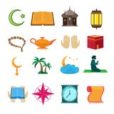 Islam icons set Royalty Free Stock Photos