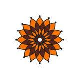Islam, język arabski, indianin, etniczny element Wektorowy kwiat Obraz Stock