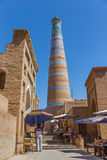 Islam Khodja Minaret and Mosque in Khiva, Uzbekistan Stock Photo