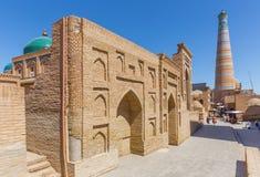 Islam Khodja Minaret and Mosque in Khiva, Uzbekistan Royalty Free Stock Images