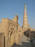 Islam Khoja minaret in Khiva Royalty Free Stock Photography