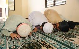 Islam Kids Praying Stock Image
