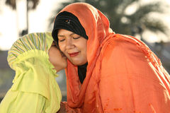 Islam Mother and Child Stock Images