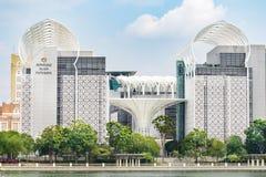 Islam Putrajaya, arquitectura urbana moderna hermosa de Kompleks Combinación armoniosa de arquitectura tradicional, diseño modern fotografía de archivo libre de regalías
