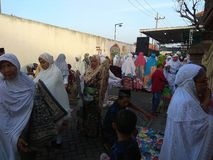 Islam religion on pray. Moslem, together stock photography