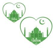 Islam. Religious symbol. I love Islam Stock Photography