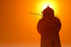 Islam symbol. Architecture of minaret royalty free stock photos