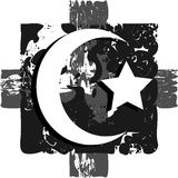 Islam symbol on artistic background in grey tones Stock Images