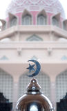 Islam Symbol in a doom mosque background Royalty Free Stock Images