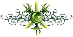 Islam symbol on floral abstract background Royalty Free Stock Photography