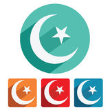 Islam symbol icon flat design Royalty Free Stock Images