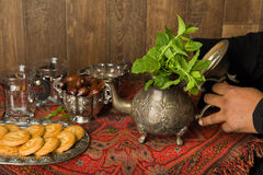 Islam tea with mint leaves royalty free stock photo