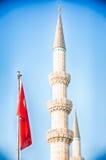 Islam and Turkey flag. Islam and a symbolic turkey flag down stock photography
