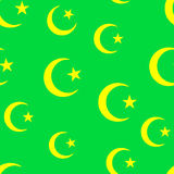 Islam wallpaper. Seamless islam pattern on green Stock Photography
