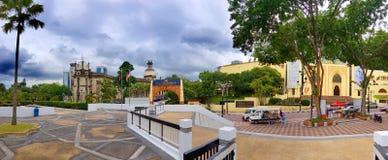 Islam Wilayah Persekutuan, panorama del Agama de Jabatan de la mezquita del kualalmpur, Malasia, 2017 fotografía de archivo libre de regalías