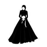 Islam woman girl wearing veil marriage wedding. Woman girl wearing veil marriage wedding stock illustration
