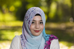 Islam woman. The islam woman on isolate background stock photography
