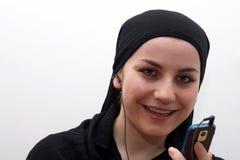 Islam woman mp3 Stock Image