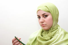 Islam woman prayer Royalty Free Stock Images