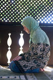 Islam woman prayer Stock Photo