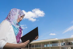 Islam woman read a book Royalty Free Stock Images