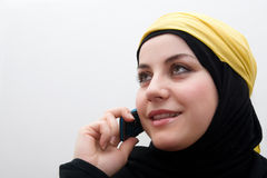 Islam woman talking Royalty Free Stock Photos