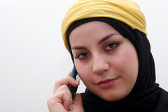 Islam woman talking Stock Photo