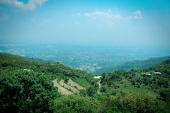 Islamabad landscape. Landscape view of Islamabad, the capital city of Pakistan, taken from the area of the Margalla Hills Royalty Free Stock Photo