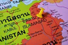 Islamabad Pakistan map Stock Photography