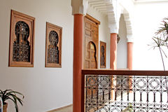 Islamic arabian indoor architecture. The islamic arabian indoor architecture Royalty Free Stock Photos