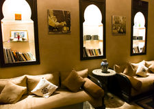 Islamic arabian indoor architecture Stock Photography
