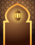 Islamic Arabian style background with lantern Stock Image