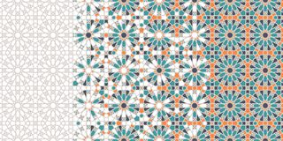 Free Islamic, Arabic Mosaic Repeating Vector Border, Pattern, Background. Royalty Free Stock Photo - 177317795