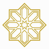 Islamic or arabic shape. With elements of ornament Stock Image