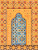 Islamic arch, arabic ornamental background Royalty Free Stock Photography