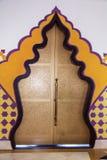 Islamic arch design door Royalty Free Stock Photos