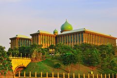 Islamic architechture. The Ministerial building of Malaysia at Putrajaya Stock Photo