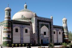 Islamic architecture. On the blue sky background.Xinagjiang province,China royalty free stock photo