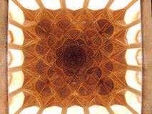 Islamic architecture masterpiece ceiling decoration in Iran resembling biology Stock Image
