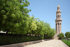 Islamic architecture tower, oman, summer day Royalty Free Stock Image
