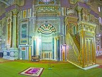 Islamic art in Al-Rifai Mosque, Cairo, Egypt stock photography