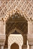 Islamic art and architecture, Alhambra in Granada. Detail of Islamic art and architecture at the Alhambra in Granada, Spain Royalty Free Stock Photos